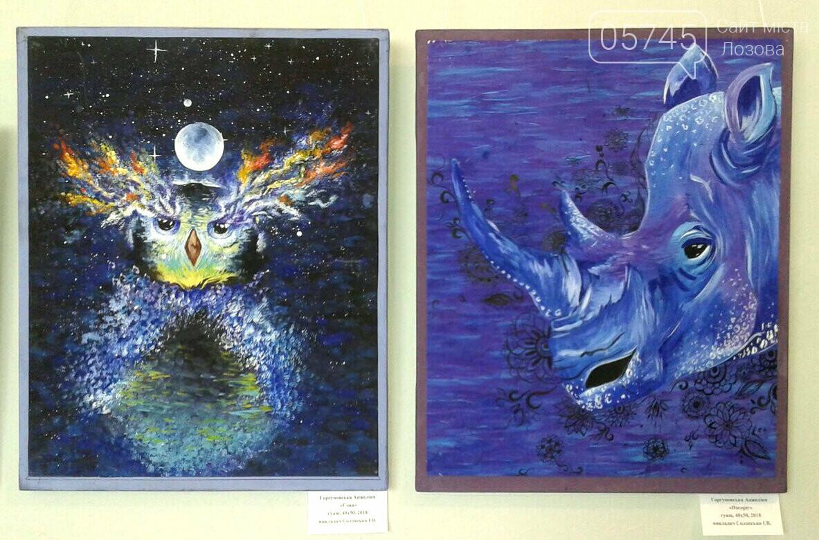 В Лозовском музее открылась первая выставка учениц художественной школы, фото-6