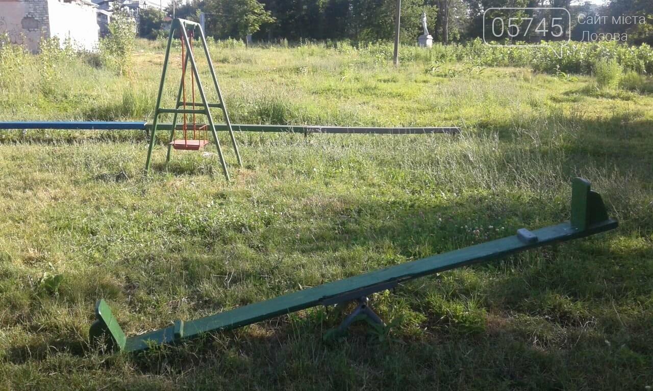 Ничейные качели. Кто отвечает за детские площадки в Лозовой?, фото-6