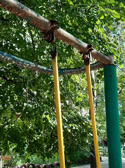 Ничейные качели. Кто отвечает за детские площадки в Лозовой?, фото-9
