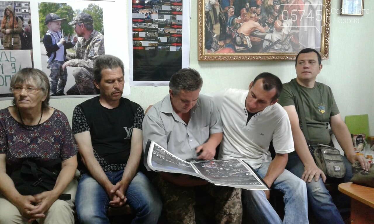 Лозовской союз участников АТО посетил известный фотограф Юрий Ворошилов, фото-3