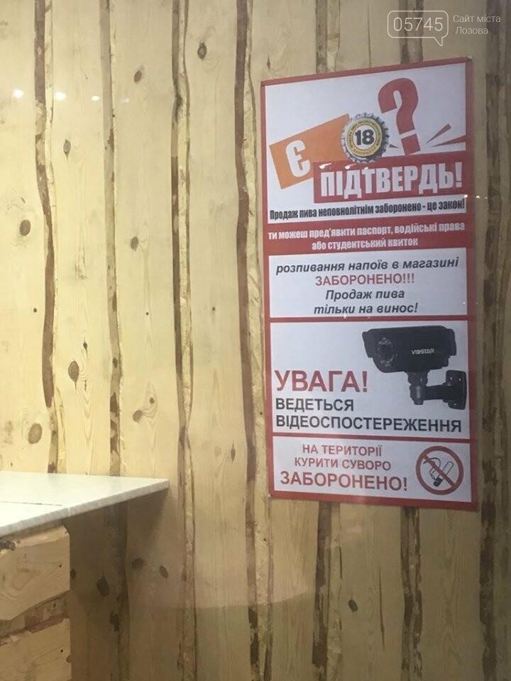 Продажа алкоголя несовершеннолетним на Лозовщине. Результаты рейда полиции, фото-1