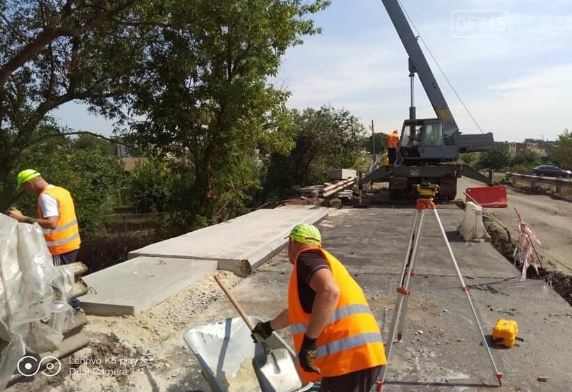На Лозовщине продолжается ремонт мостов. Укрепляют опоры и пролетные сооружения, фото-3