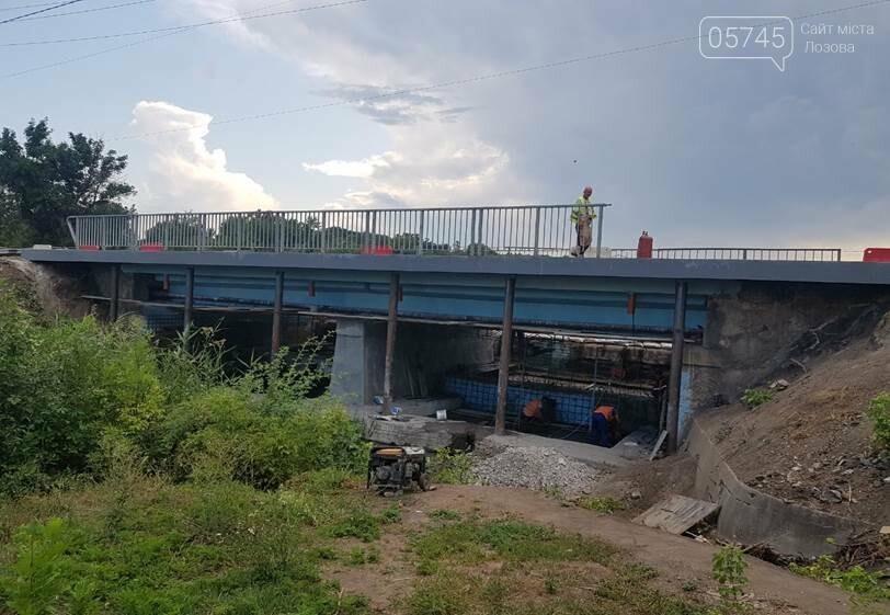 На Лозовщине продолжается ремонт мостов. Укрепляют опоры и пролетные сооружения, фото-10