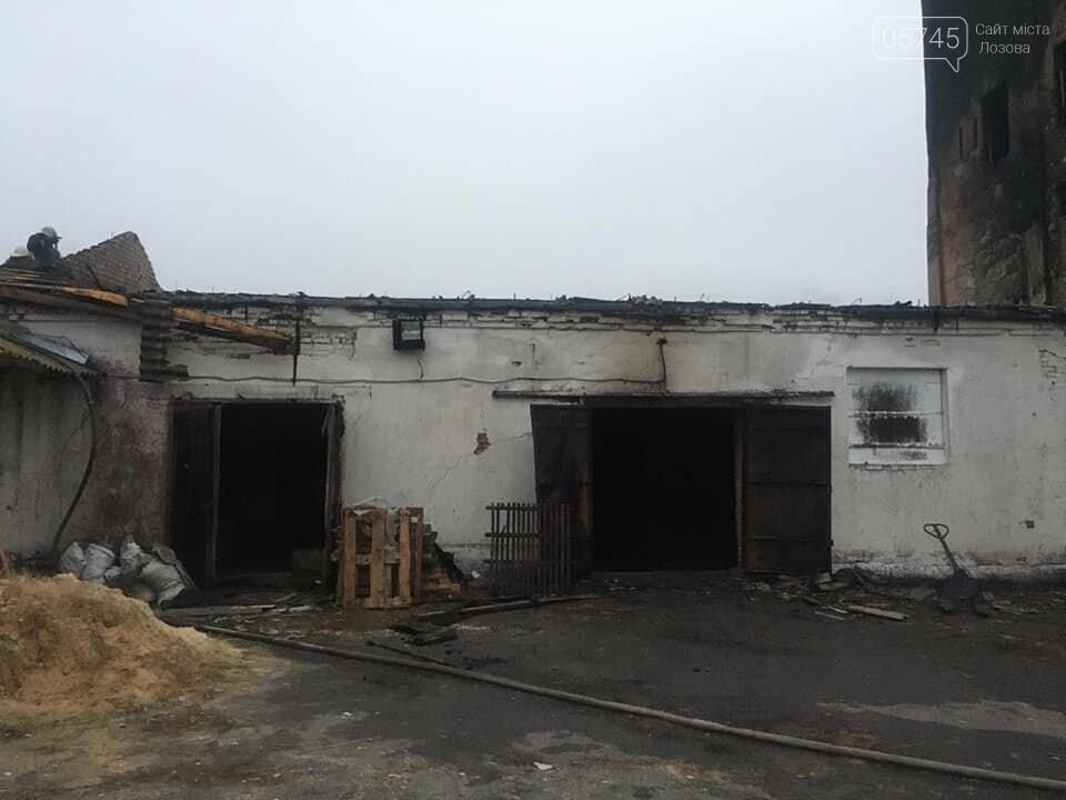 В Лозовой сгорели склады с топливными брикетами, фото-4