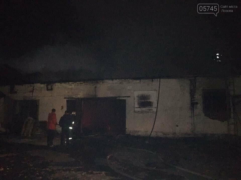 В Лозовой сгорели склады с топливными брикетами, фото-2