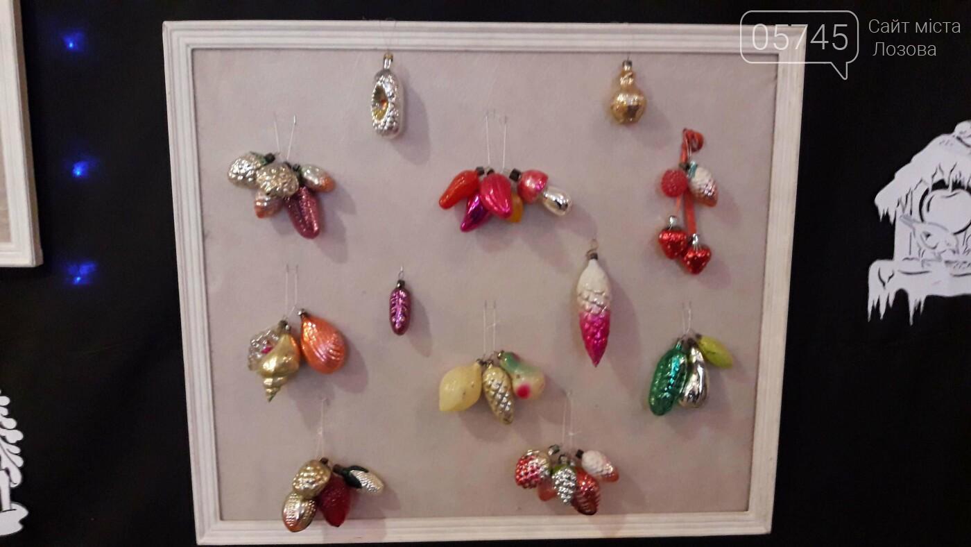 Новогодние игрушки из детства. В Лозовском музее работает выставка ёлочных украшений, фото-3