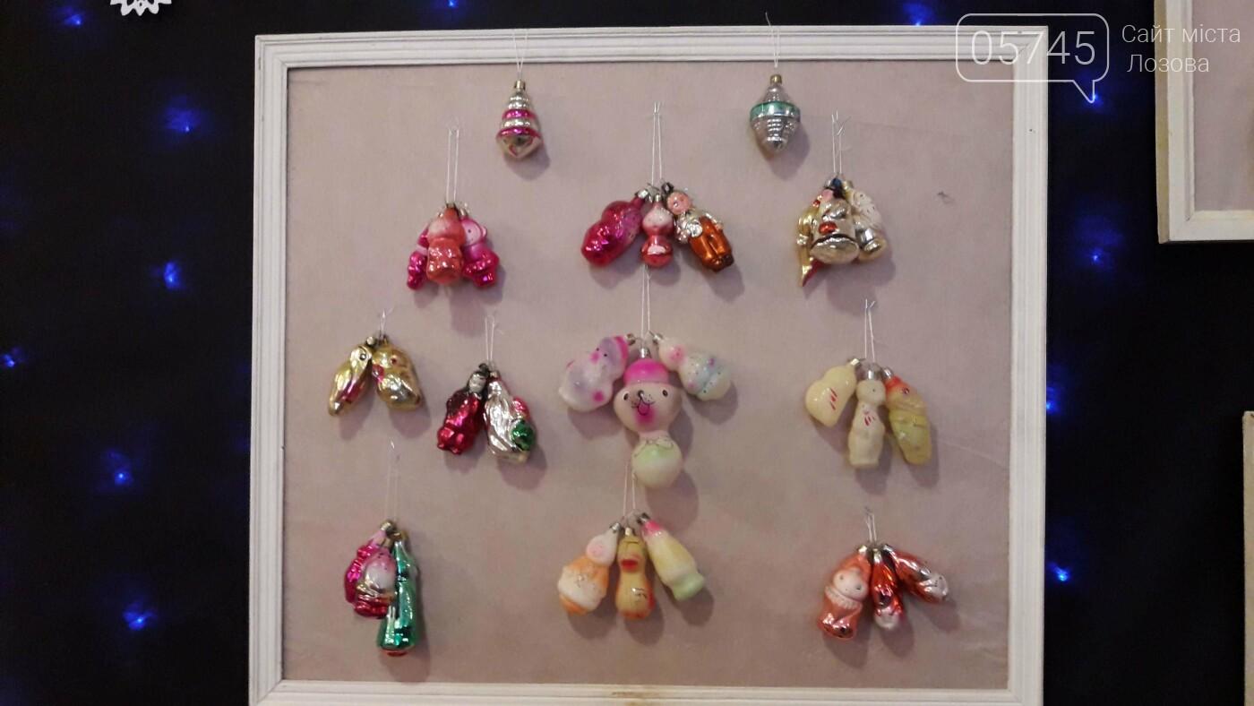 Новогодние игрушки из детства. В Лозовском музее работает выставка ёлочных украшений, фото-4