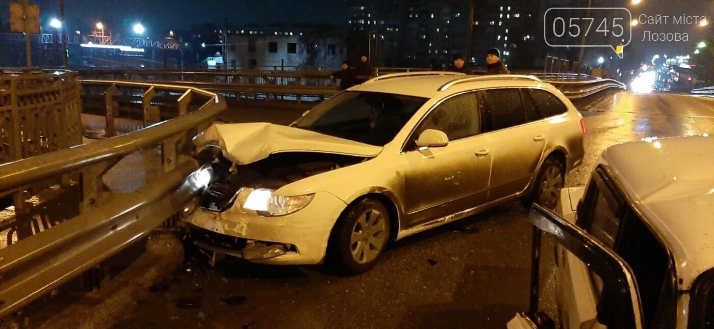 В Лозовой случилось ДТП прямо посреди переездного моста. (ФОТО), фото-2