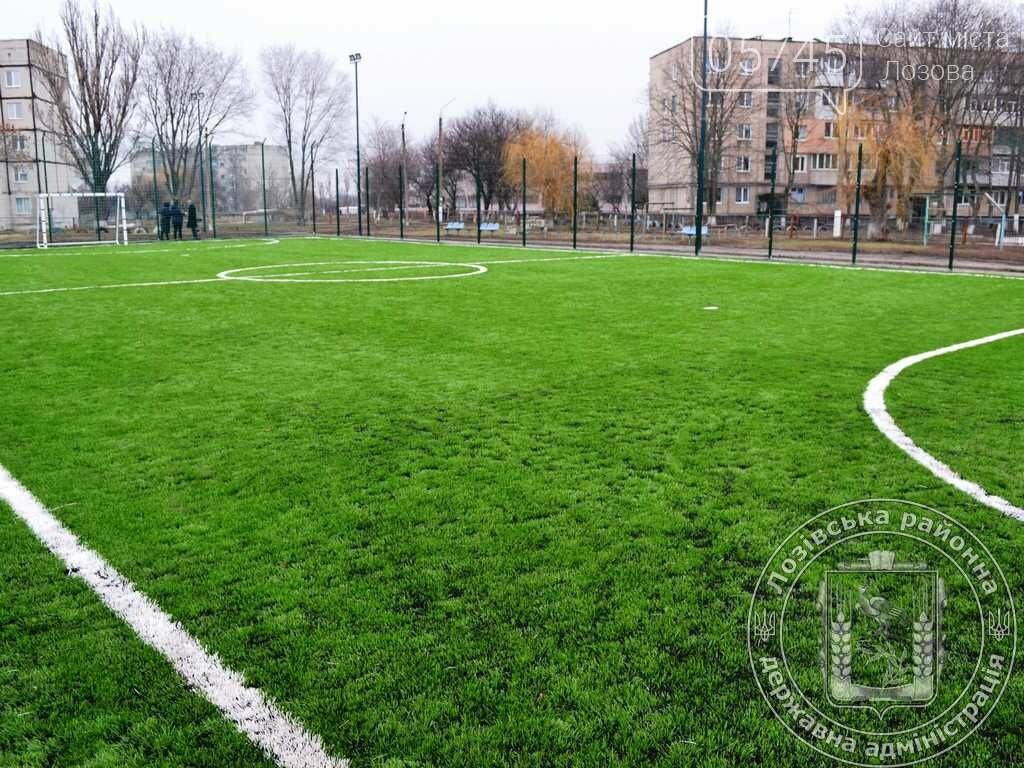 В Краснопавловском лицее на Лозовщине открыли площадку с искусственным покрытием, фото-1