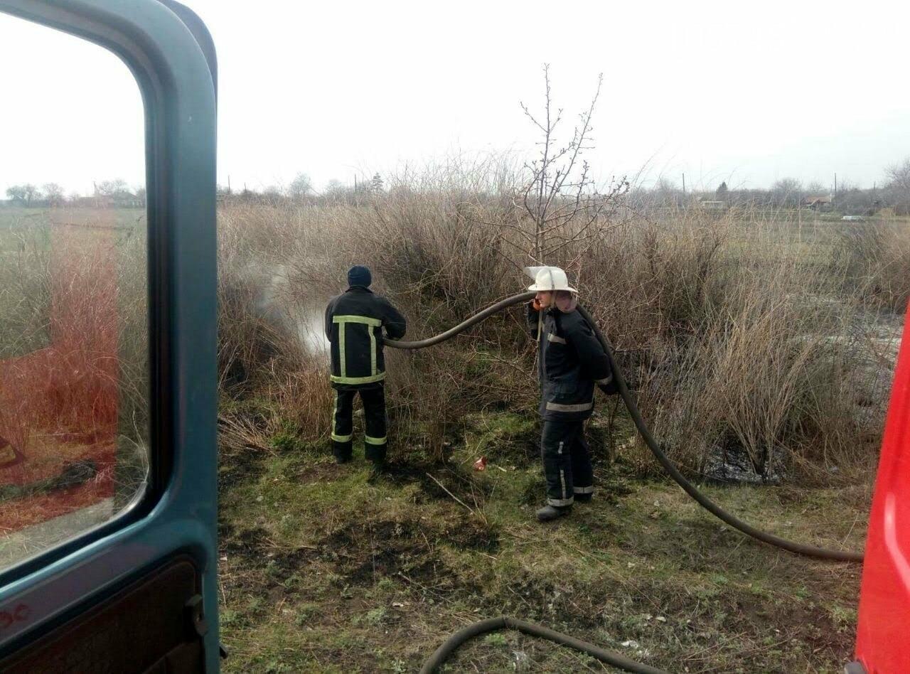 Горели камыш и трава: на выходных на Лозовщине случилось 9 пожаров, фото-4