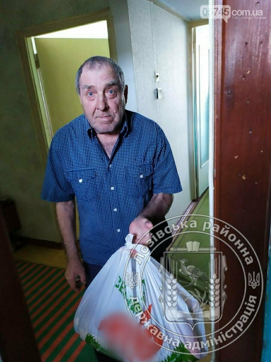 Помощь во время карантина: пожилым жителям Лозовского района раздали продукты, фото-3