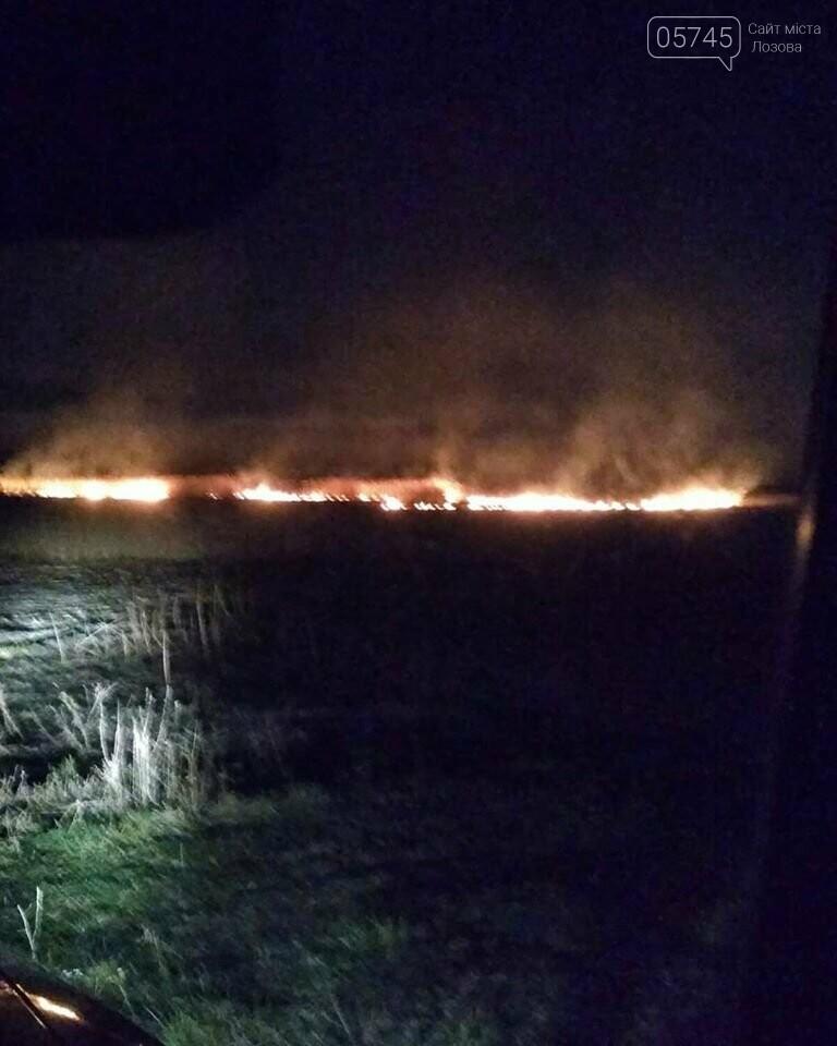 Лозовщина в огне: за неделю выгорело почти 11 гектаров сухостоя, фото-11