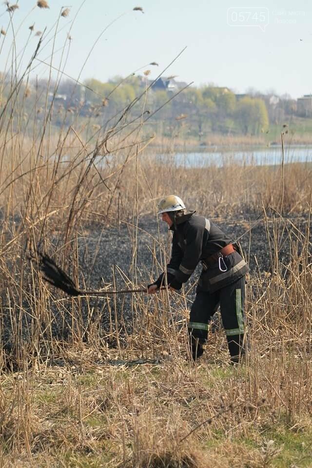 Лозовщина в огне: за неделю выгорело почти 11 гектаров сухостоя, фото-7