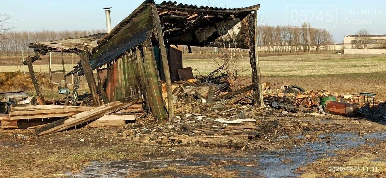 Ночные пожары: на Лозовщине произошло 2 возгорания, фото-1