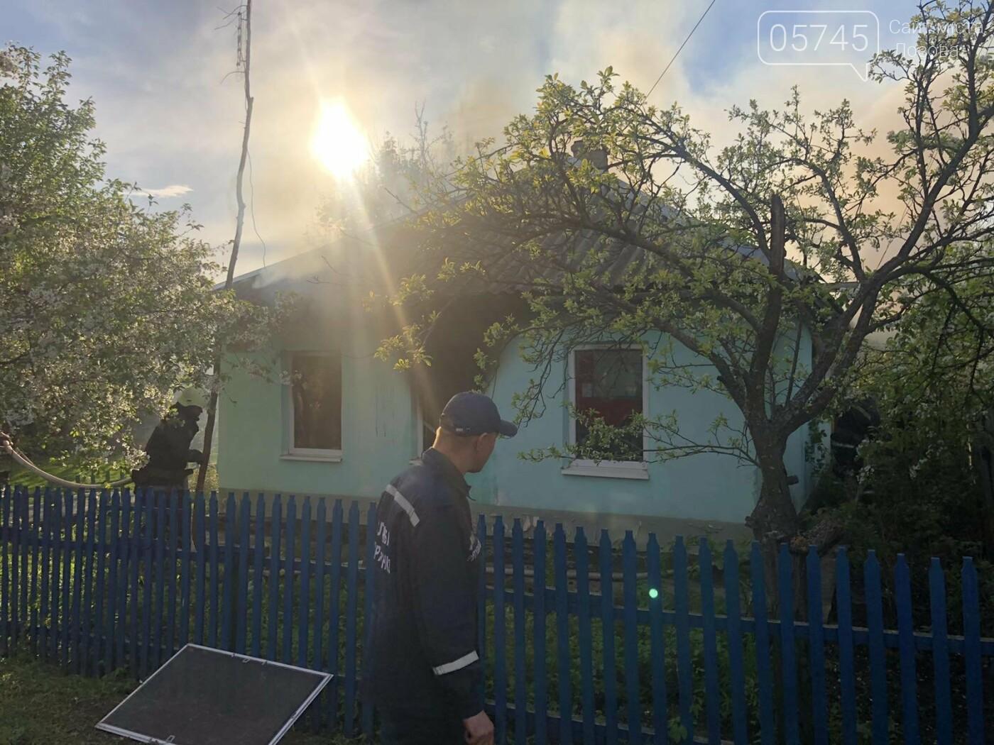 На Лозівщині згорів будинок,  рятувальники підозрюють підпал , фото-1