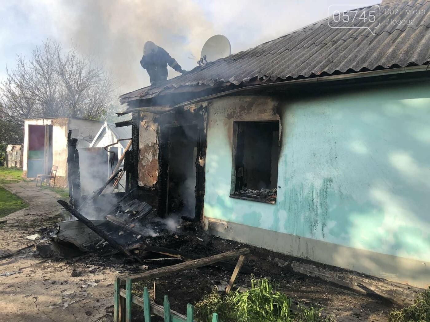 На Лозівщині згорів будинок,  рятувальники підозрюють підпал , фото-2