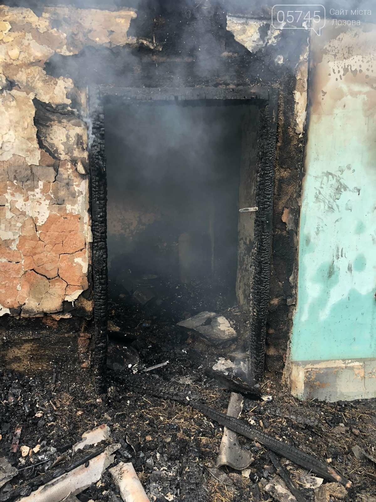 На Лозівщині згорів будинок,  рятувальники підозрюють підпал , фото-5