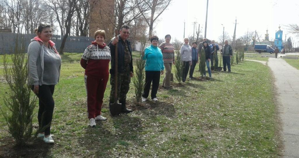 В старостинских округах Лозовской ОТГ высаживают деревья, фото-1