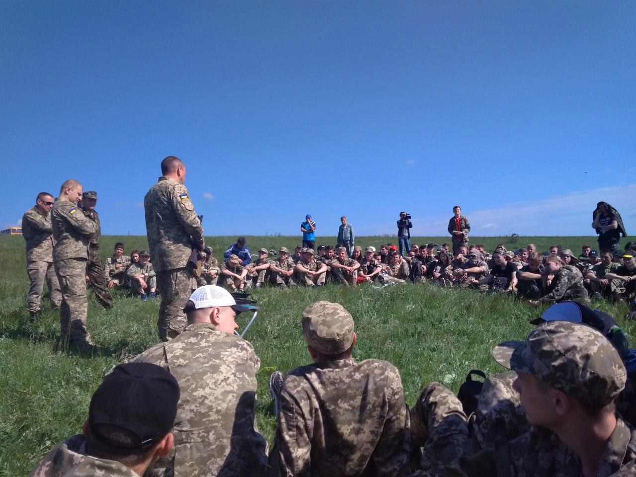 Лозовские старшеклассники вышли на  учебно-полевые занятия, фото-6