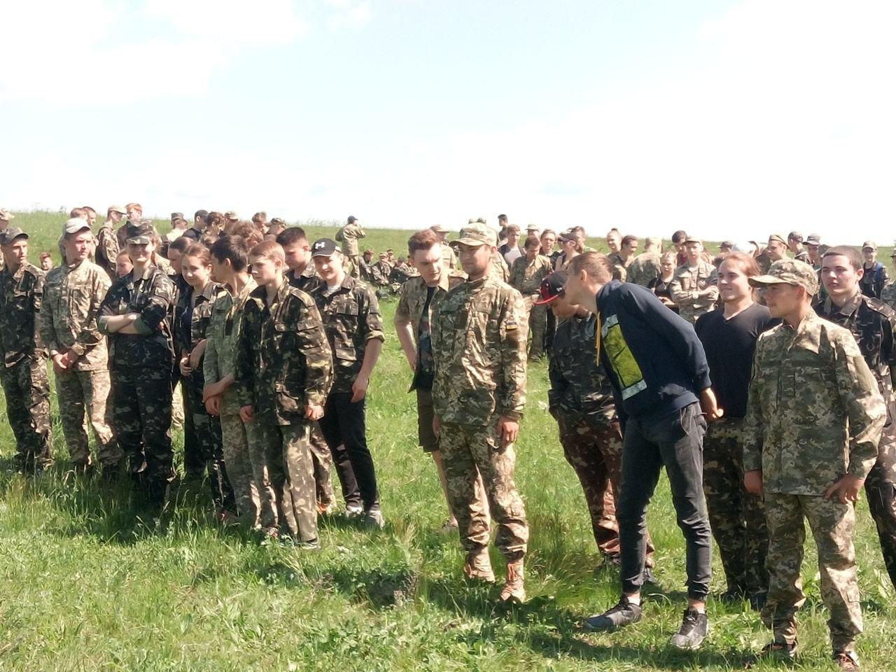 Лозовские старшеклассники вышли на  учебно-полевые занятия, фото-9