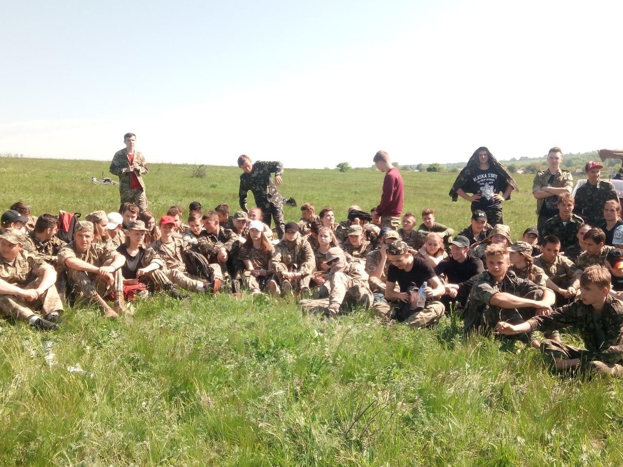 Лозовские старшеклассники вышли на  учебно-полевые занятия, фото-10
