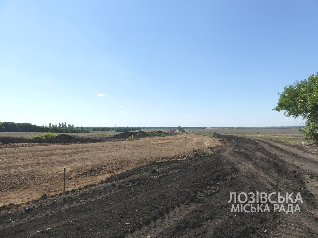 Для проверки хода строительства объездной дороги в Лозовую приезжала губернатор области Юлия Светличная, фото-18