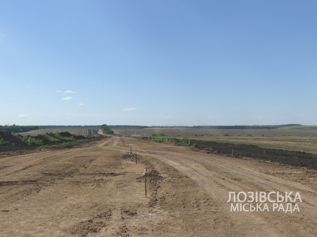 Для проверки хода строительства объездной дороги в Лозовую приезжала губернатор области Юлия Светличная, фото-17