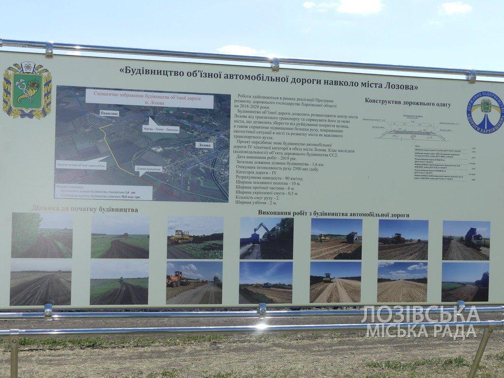Для проверки хода строительства объездной дороги в Лозовую приезжала губернатор области Юлия Светличная, фото-7