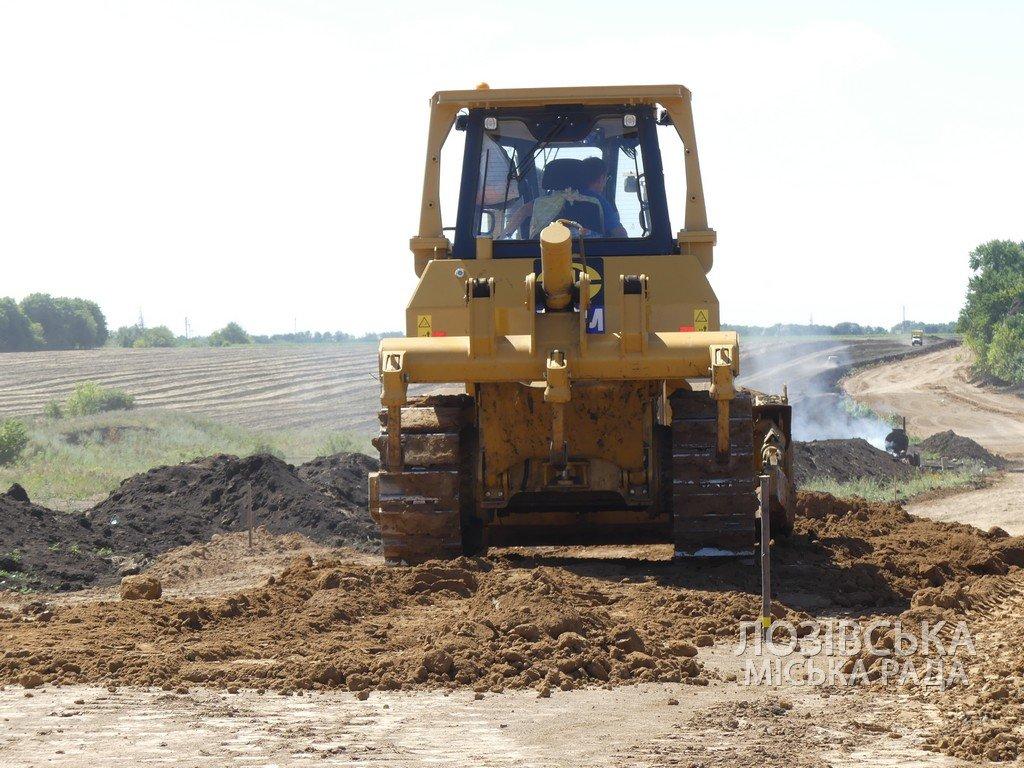 Для проверки хода строительства объездной дороги в Лозовую приезжала губернатор области Юлия Светличная, фото-4