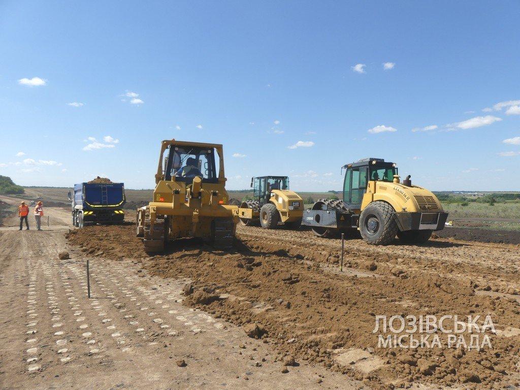 Для проверки хода строительства объездной дороги в Лозовую приезжала губернатор области Юлия Светличная, фото-1
