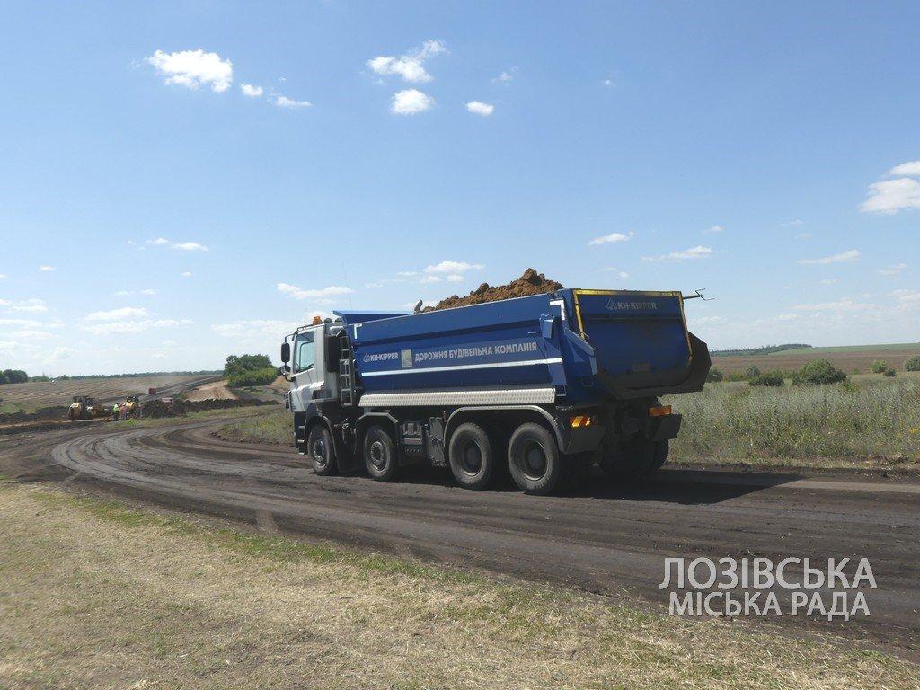 Для проверки хода строительства объездной дороги в Лозовую приезжала губернатор области Юлия Светличная, фото-8
