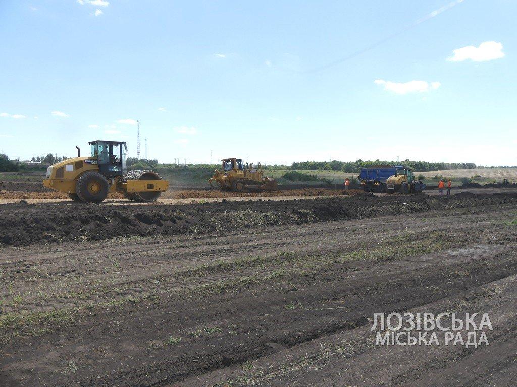 Для проверки хода строительства объездной дороги в Лозовую приезжала губернатор области Юлия Светличная, фото-11