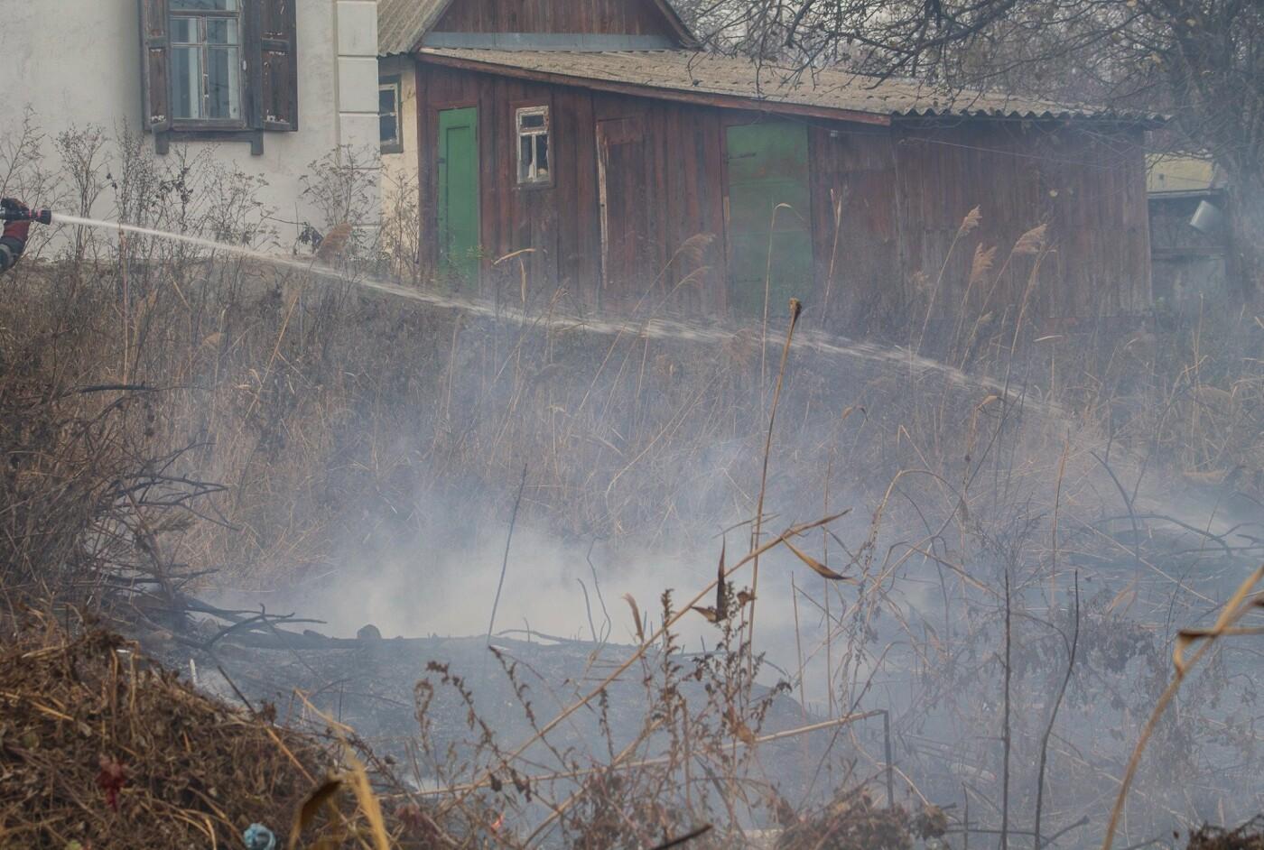 В Лозовой и селе Весёлом выгорела сухая растительность, фото-10