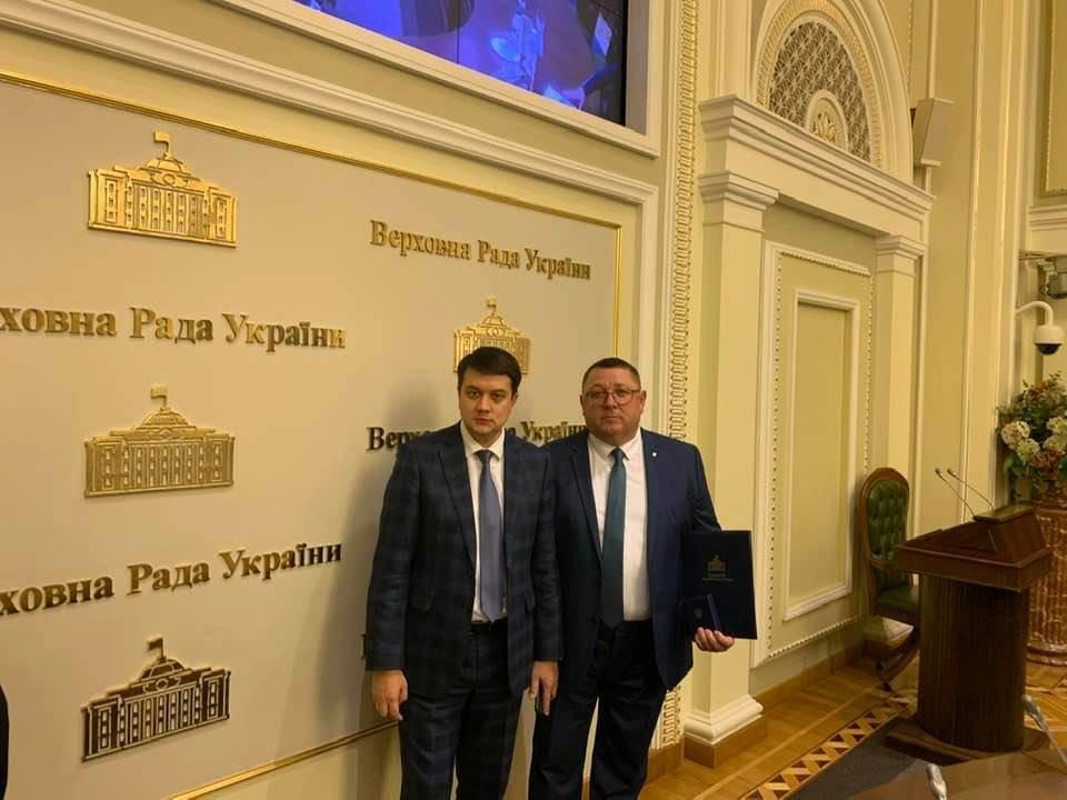 Лозовской мэр Сергей Зеленский получил награду Верховной Рады Украины, фото-2