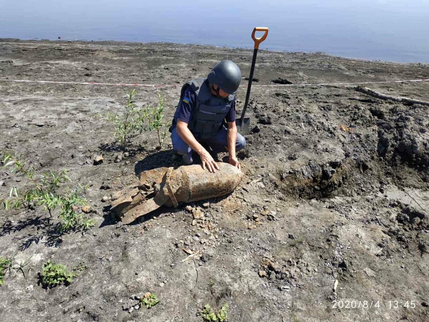Дети нашли снаряд: на Лозовщине пиротехники  изъяли и обезвредили фугасную авиабомбу, фото-4