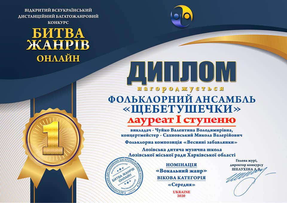 Онлайн-победы: лозовские творческие коллективы получили награды всеукраинского конкурса, фото-1