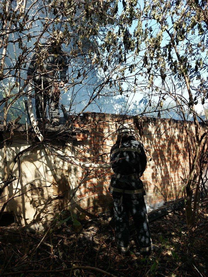 В Лозовой сгорела крыша заброшенной хозпостройки, фото-4