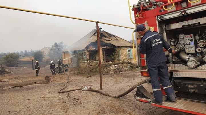 Как лозовские спасатели тушат пожары на Луганщине (ФОТО, ВИДЕО), фото-1