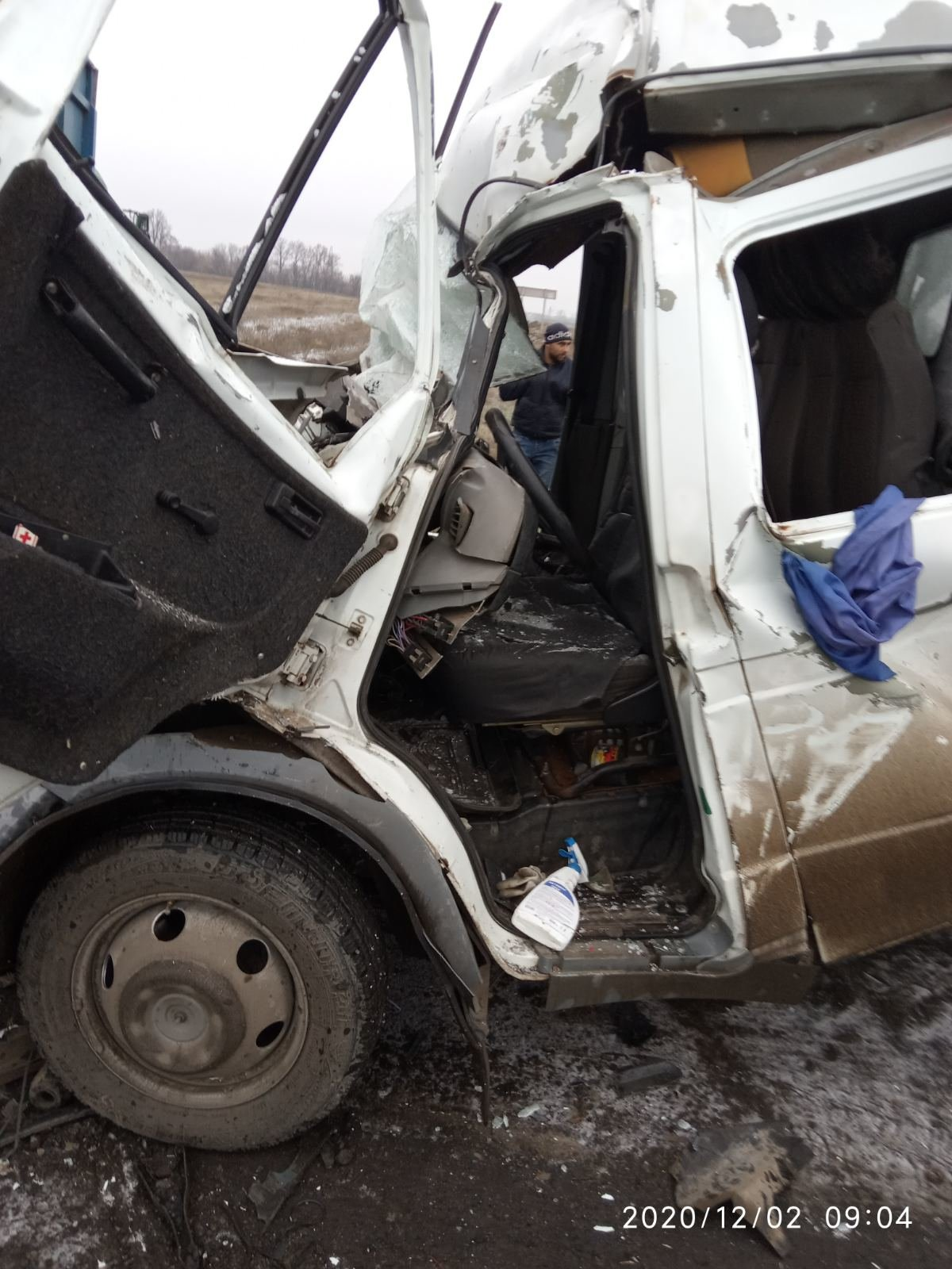 Газель въехала в Камаз: на Лозовщине ДТП с пострадавшим, фото-3