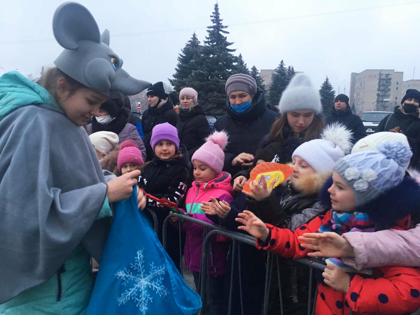 В Лозовой одновременно открыли 2 новогодние ёлки, фото-7