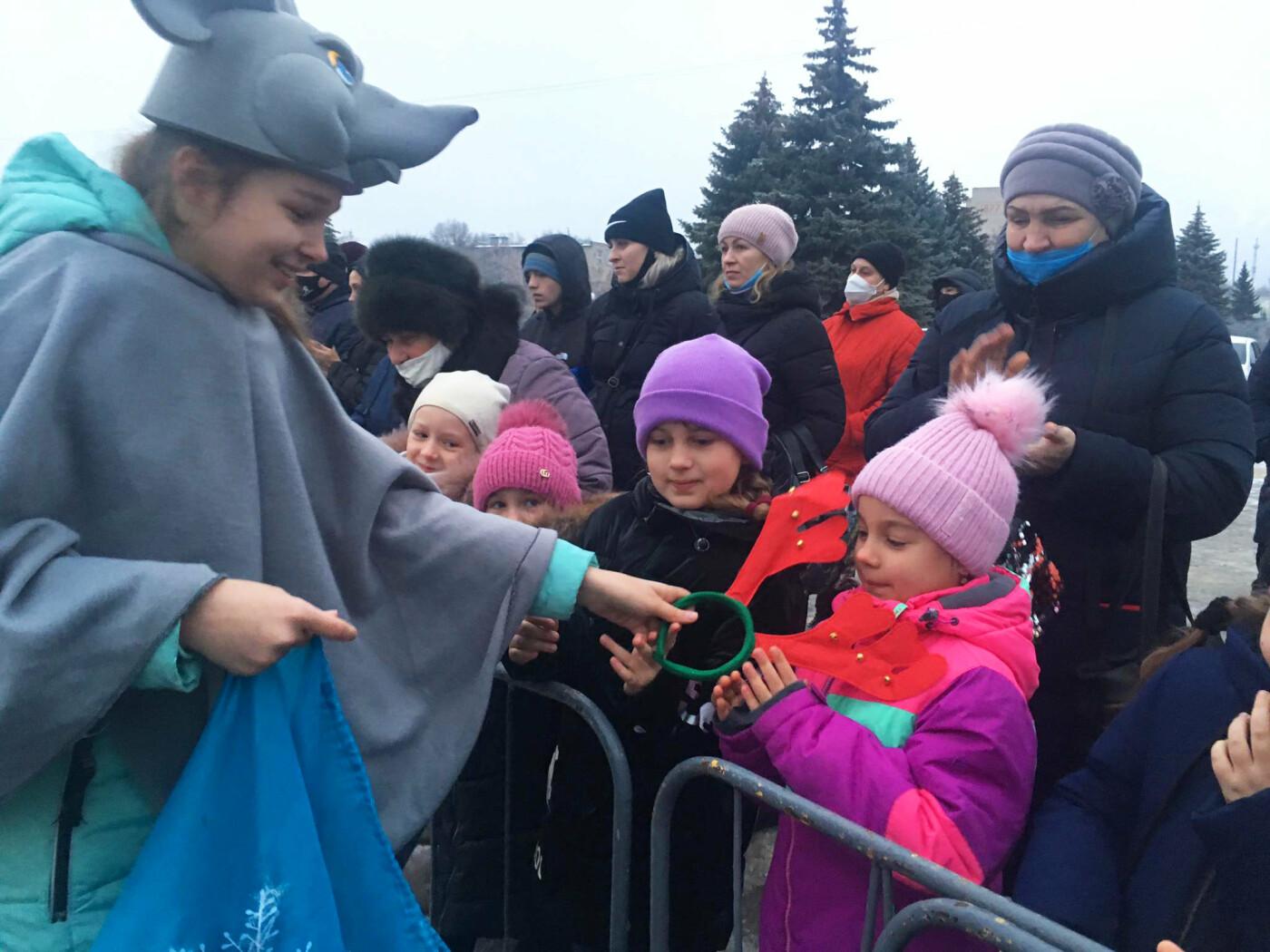В Лозовой одновременно открыли 2 новогодние ёлки, фото-6