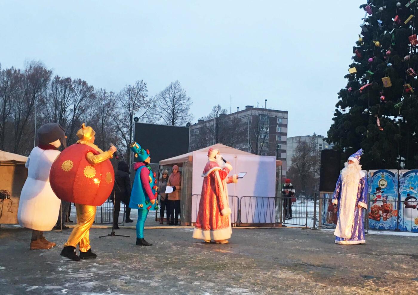 В Лозовой одновременно открыли 2 новогодние ёлки, фото-10