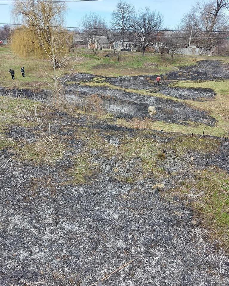 Вигоріло 2 гектари: на Лозівщині на вихідних трапилось 4 пожежі сухої трави, фото-1