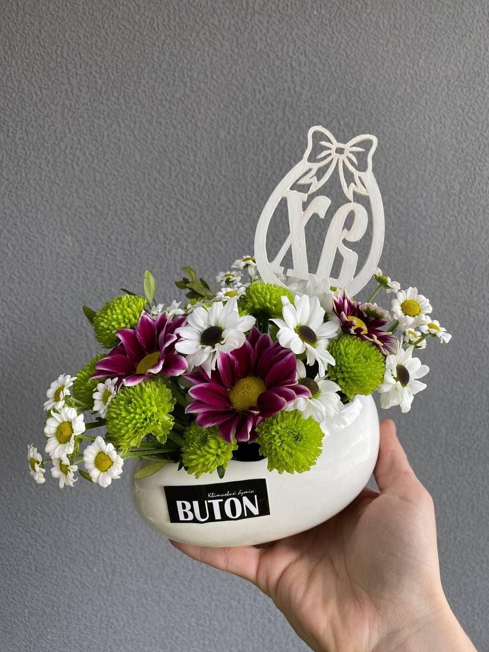 Оригінальний декор та незвичайні квіткові композиції до Великодня від студії «Конфетті» та квіткової лавки «BUTON» у Лозовій, фото-9