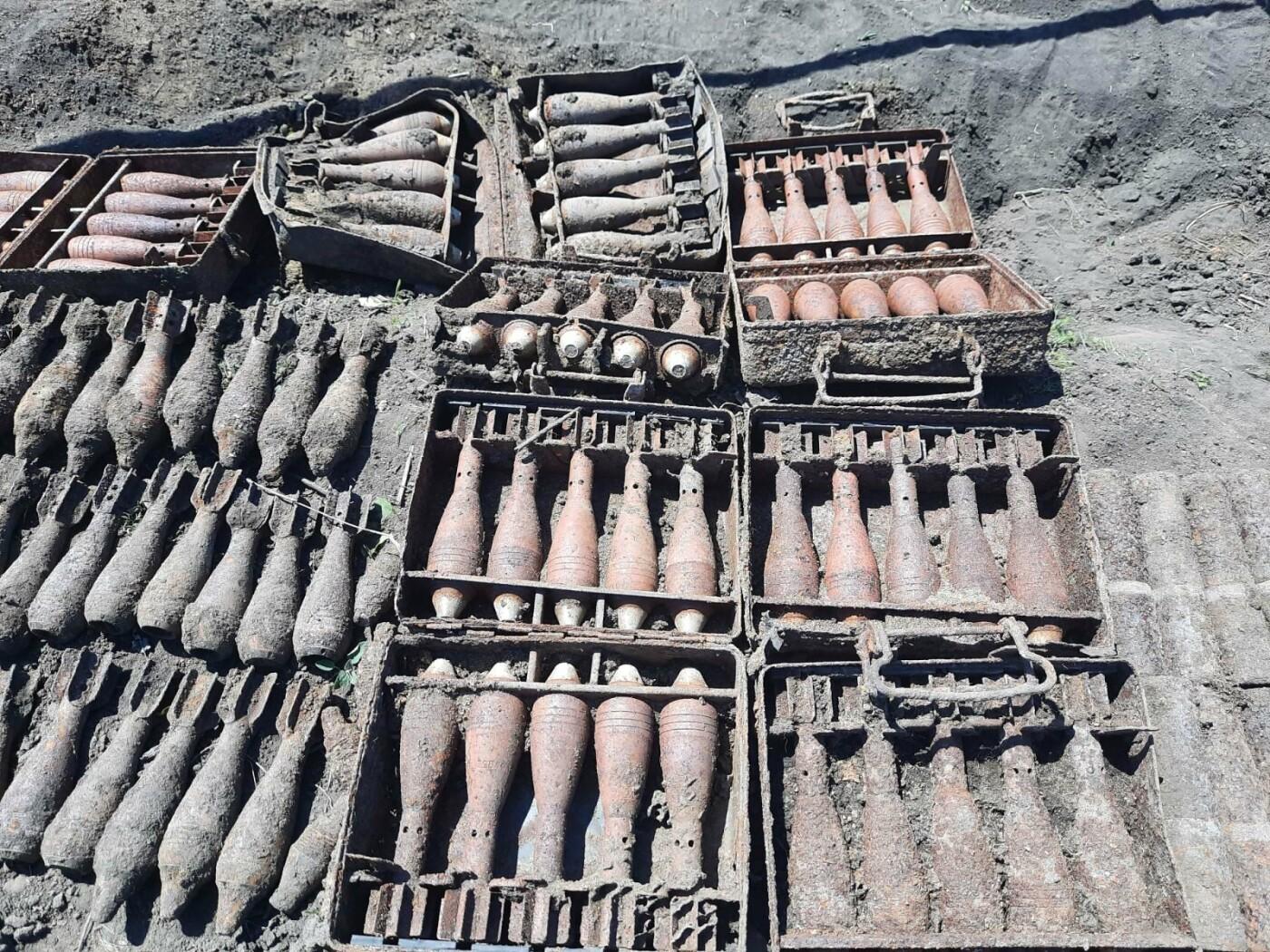 Знову небезпечна знахідка: на Лозівщині селянин виявив півтори сотні снарядів, фото-2